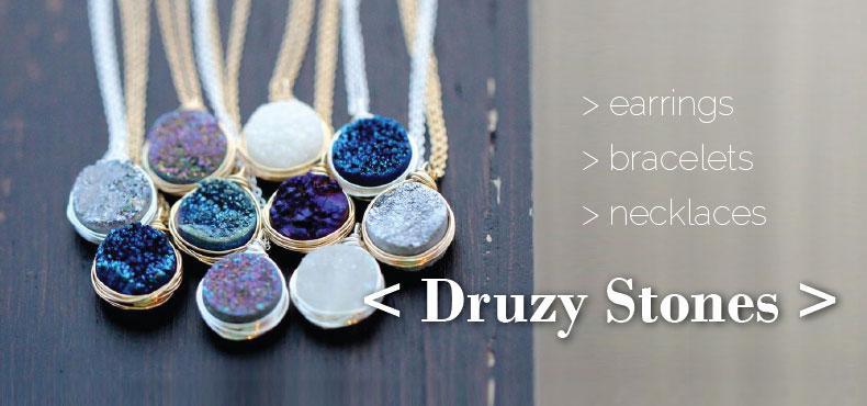 druzy style stones